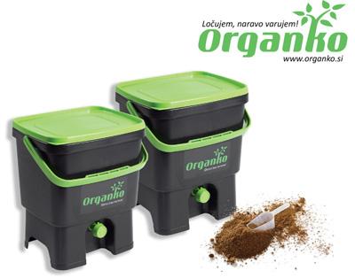 Organko – koš za ločevanje bioloških odpadkov